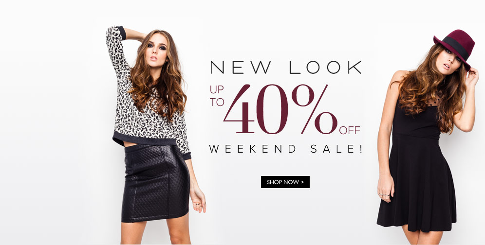 Weekend Special - Up to 40% OFF New Look  With Free Shipping On Orders Over $40 at Zalora.sg