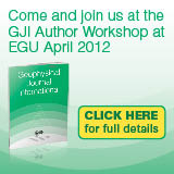 Come and join us at the GJI Author Workshop at EGU April 2012