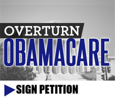 Sign the petition, overturn Obamacare!