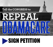 We must repeal Obamacare! Sign the petition!