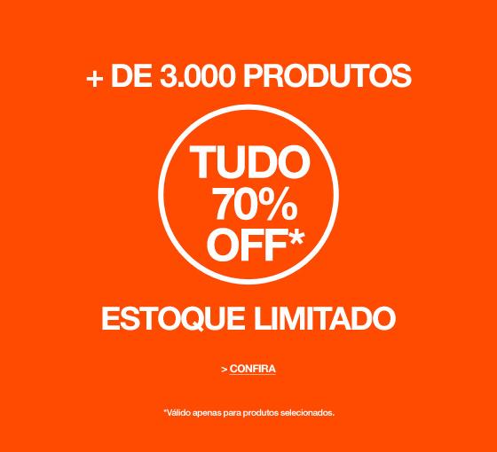 + de 3000 produtos com 70% off