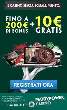 Bonus Casino senza deposito PaddyPower.it
