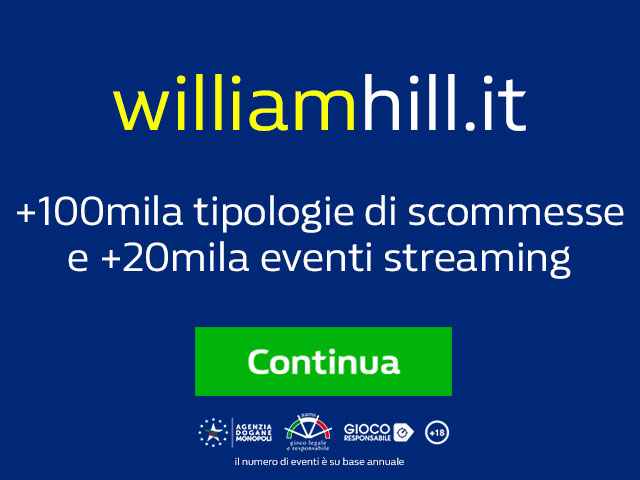 William Hill Bonus Scommesse 100 euro